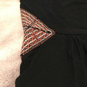 Lizard Thicket Black Strapless Dress W/ Pockets